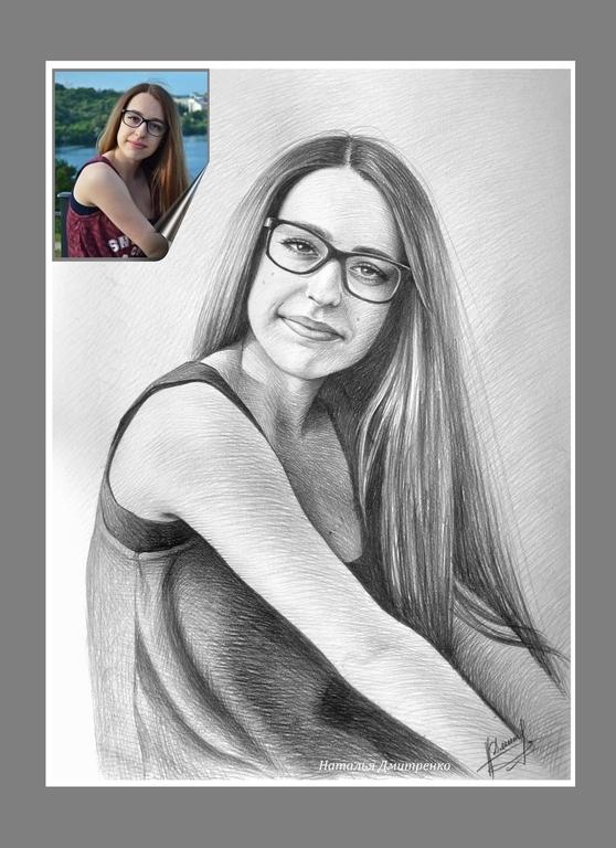 заказ рисунка карандашом с фото в москве